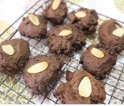 ダブルチョコのドロップクッキー