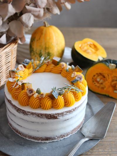 かぼちゃのネイキッドケーキ