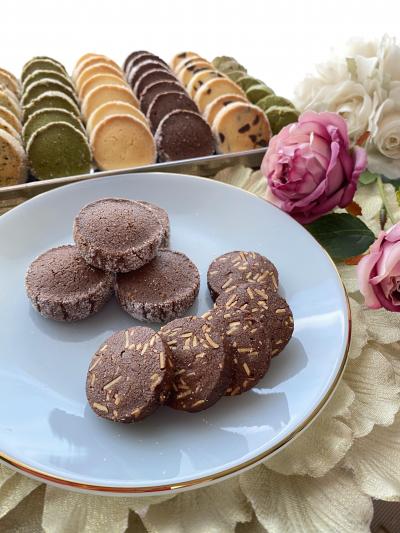 ココアクッキー2種(ディアマン&アーモンド)