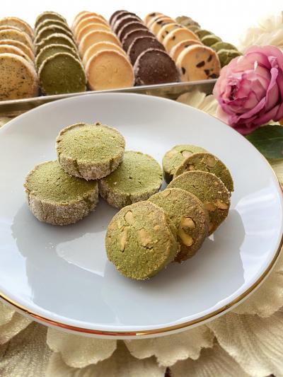 抹茶クッキー2種(ディアマン&くるみ)