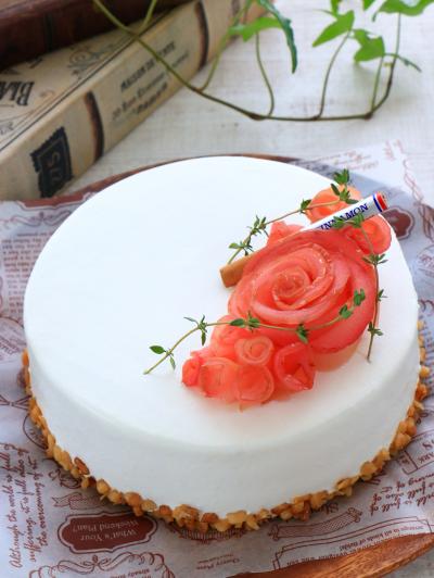乳製品不使用♪ りんごとシナモンのデコレーションケーキ
