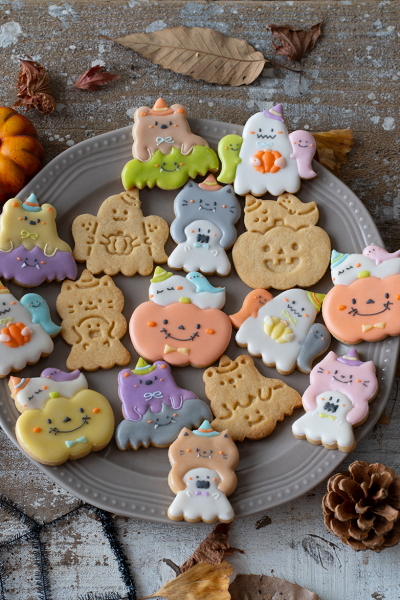 ハロウィンのサクサク♪メープルクッキー
