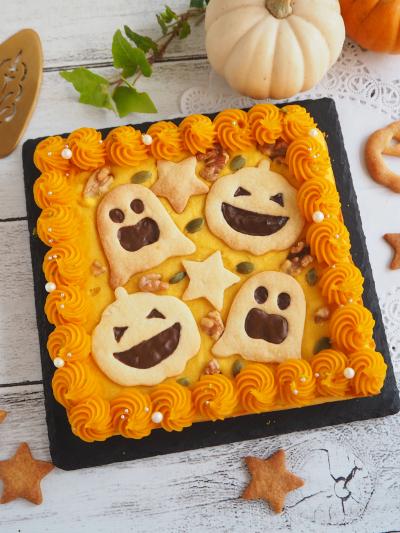 ハロウィンのかぼちゃケーキ♡