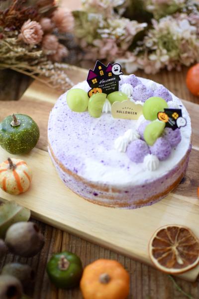ハロウィンに♪紫芋クリームのネイキッドケーキ