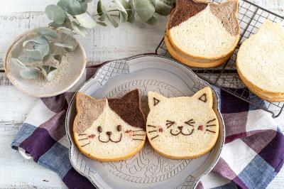 食パンミックスで作るネコパン