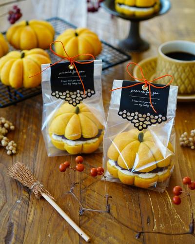 かぼちゃパンサンドのラッピング