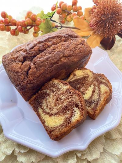 HMで簡単♡チョコマーブルパウンドケーキ