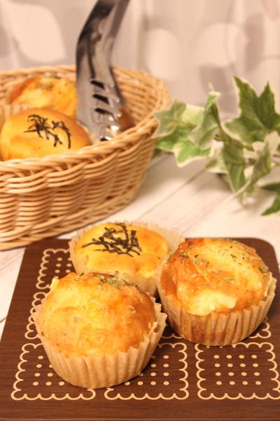 ワンボウルで簡単!明太子とクリームチーズのおかずマフィン