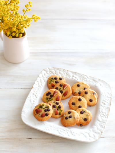 簡単お菓子☆ざくざくドロップチョコチップクッキー