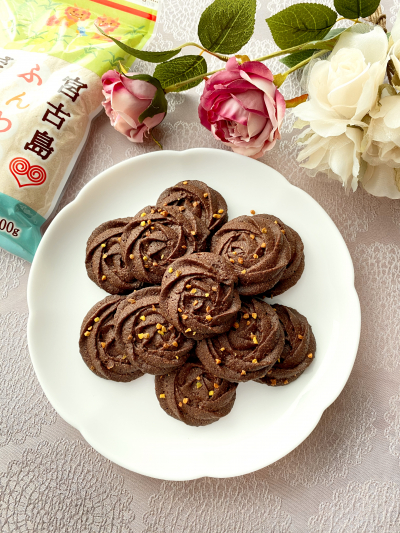 さくさく♡バラ型ショコラクッキー