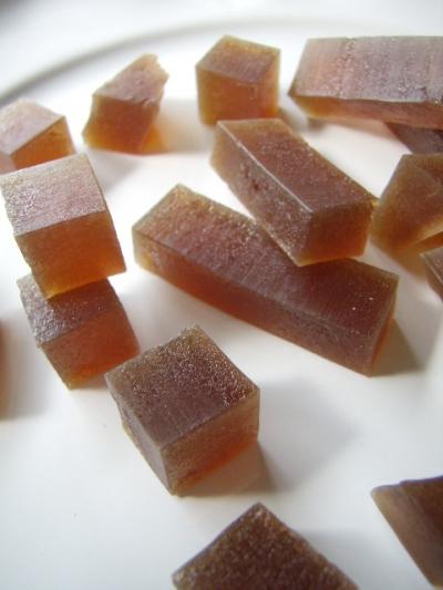 宮古島ふんわりさとうきび糖を味わう☆ 琥珀色の琥珀糖☆