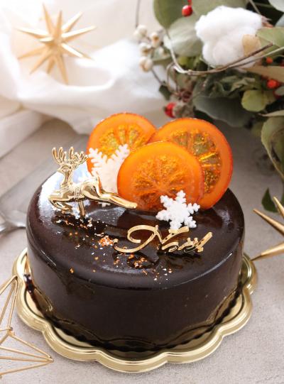 チョコとオレンジのムースケーキ