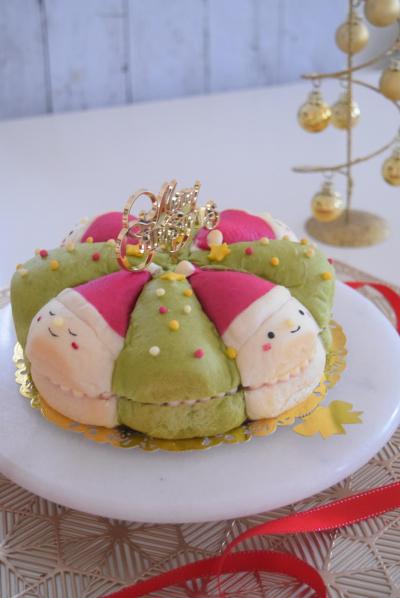18cmケーキ型で♪クリスマスちぎりパンサンド。