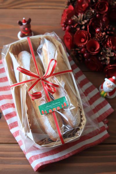 小さめソフトフランスのクリスマスラッピング
