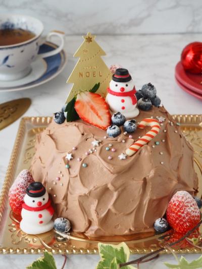 クリスマス♡ショコラドームケーキ