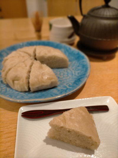 米粉とココナッツクリームの蒸しパン