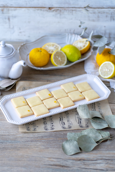 レモンとゆずのアイシングクッキー