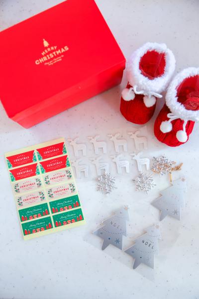 クリスマスラッピング素材で簡単ラッピング