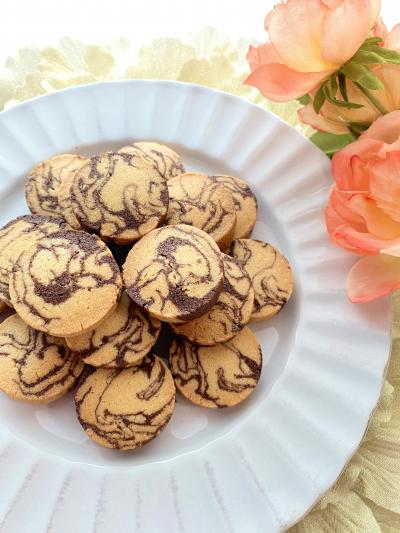 さくほろ♡ココアマーブルクッキー