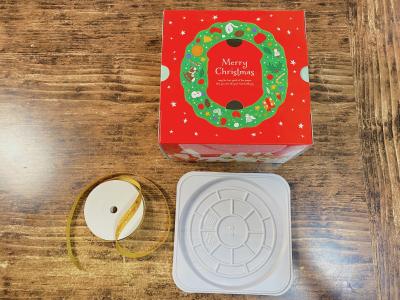 クリスマスケーキ12cmのラッピング