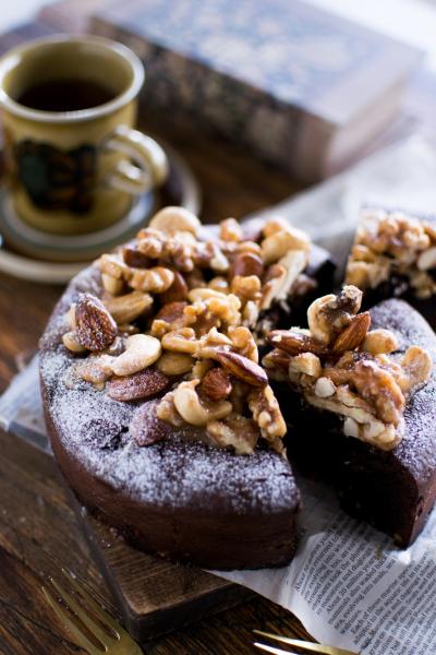 キャラメルナッツのガトーショコラ