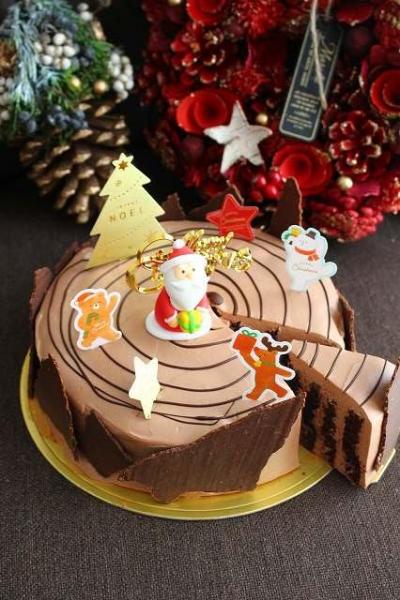 切株のチョコレートケーキ
