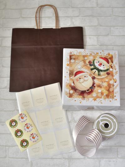 クリスマスデコレーションケーキ☆紙袋で