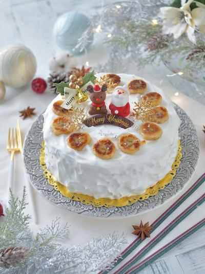 焼きバナナとカスタードのケーキ【スプーンデコ】