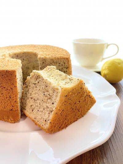 きびオリゴでふんわりしっとり♡レモンティーシフォンケーキ
