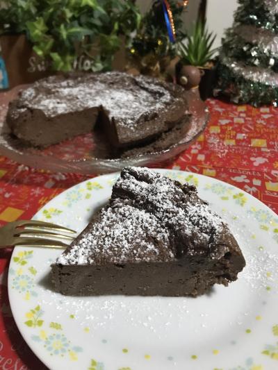 濃厚でクセになる☆チョコチーズケーキ♡クリスマスにも♪