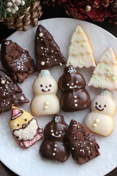 可愛いクリスマスのケーキ