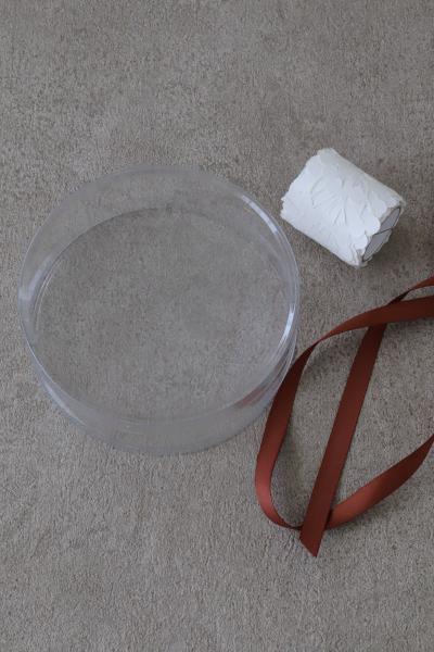 12cm ホールブラウニーの円筒ラッピング