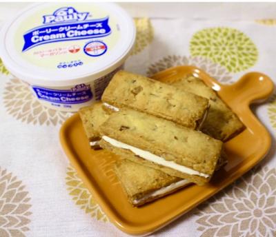 簡単!塩アーモンドクリームチーズサンドクッキー