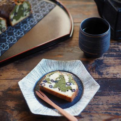 黒豆入り抹茶マーブルパウンドケーキ【おせち料理リメイク・スイーツ】
