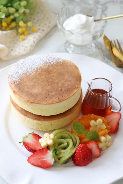 ふっくら厚焼きパンケーキ