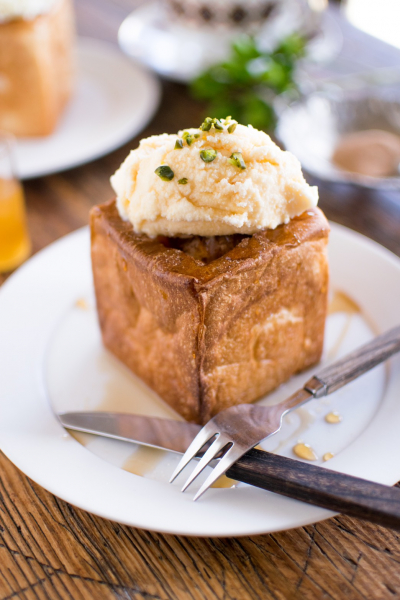 ミニ角食パンで小さなハニートースト