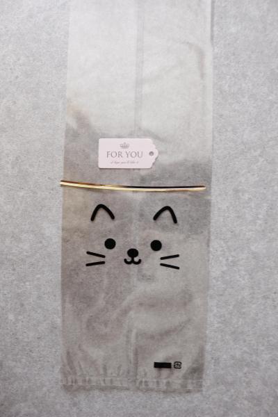 ネコちゃんのリッチチョコパンのラッピング