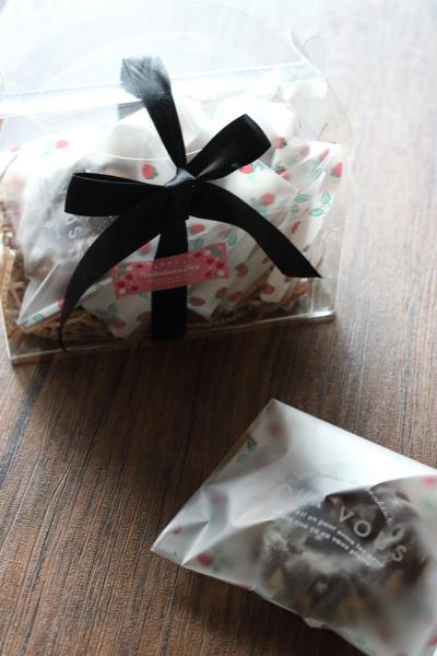 フランボワーズ香るチョコティグレのラッピング
