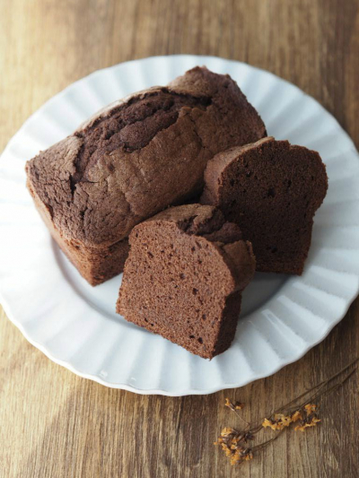チョコ好きのためのチョコレートパウンドケーキ