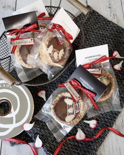 焼きチョコパイのバレンタイン個包装ラッピング♪