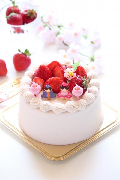 春を詰め込んだ☆桜のひな祭りショートケーキ