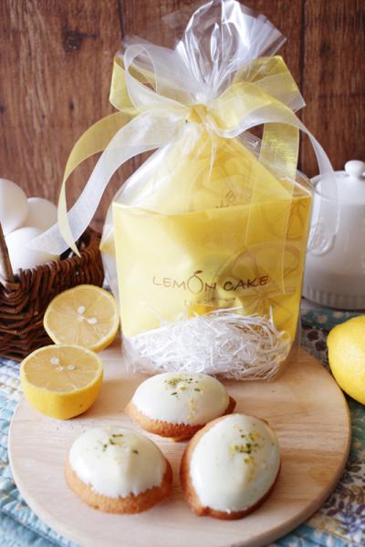 レモンケーキのラッピング