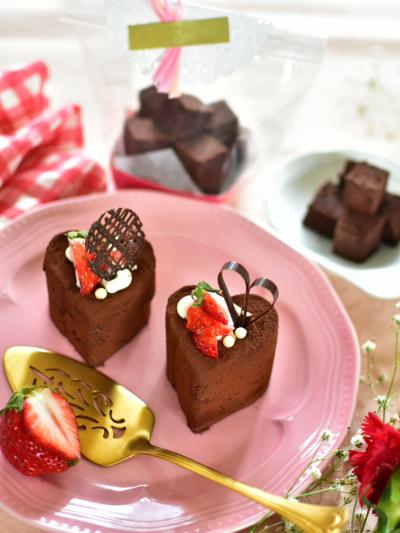 2種類楽しめる♪チョコケーキが生チョコケーキに変身!