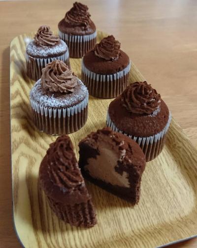 生チョコシフォンのカップケーキ
