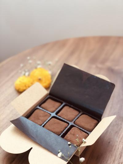 cottaチョコレートケースのラッピング