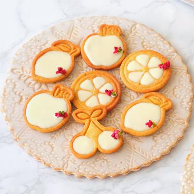 ピスタチオとホワイトチョコのスタンプクッキー