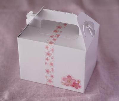 桜のレアチーズタルトのラッピング