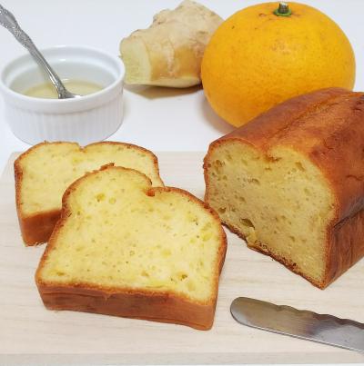 バター、牛乳不使用*はちみつ生姜と甘夏のパウンドケーキ