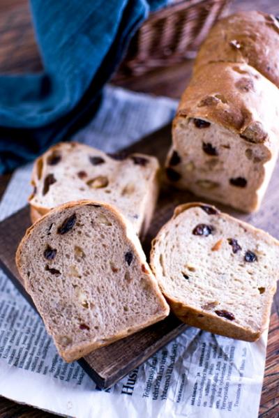 パウンド型で黒糖食パン