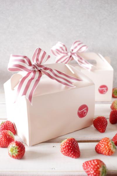 イチゴのマリトッツォのラッピング